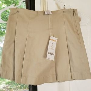 Gymboree NWT Khaki Pleated Skirt Girls 4